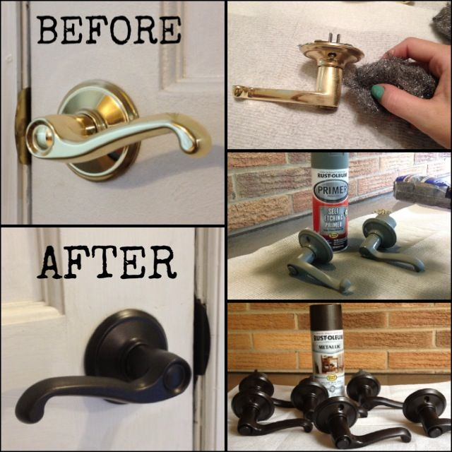 Le Meilleur Refinished Brass Door Knobs 1 Buff With Steel Wool 2 Ce Mois Ci