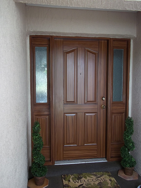 Le Meilleur Paint Front Door To Look Like Wood And To Match Garage Ce Mois Ci