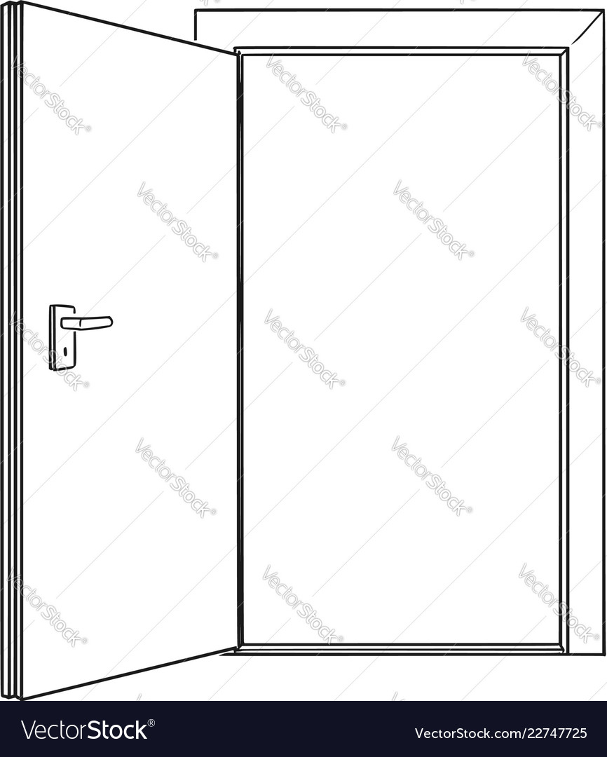 Le Meilleur Cartoon Drawing Of Inviting Open Door Royalty Free Vector Ce Mois Ci