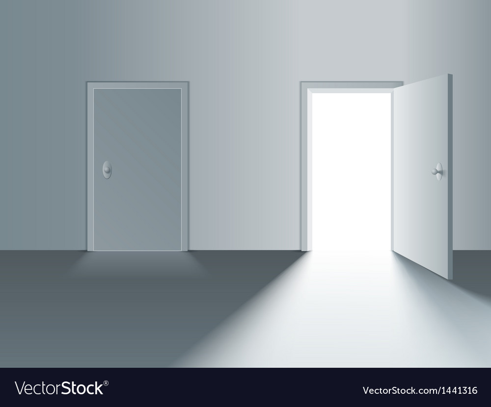 Le Meilleur Closed And Open Door Royalty Free Vector Image Ce Mois Ci