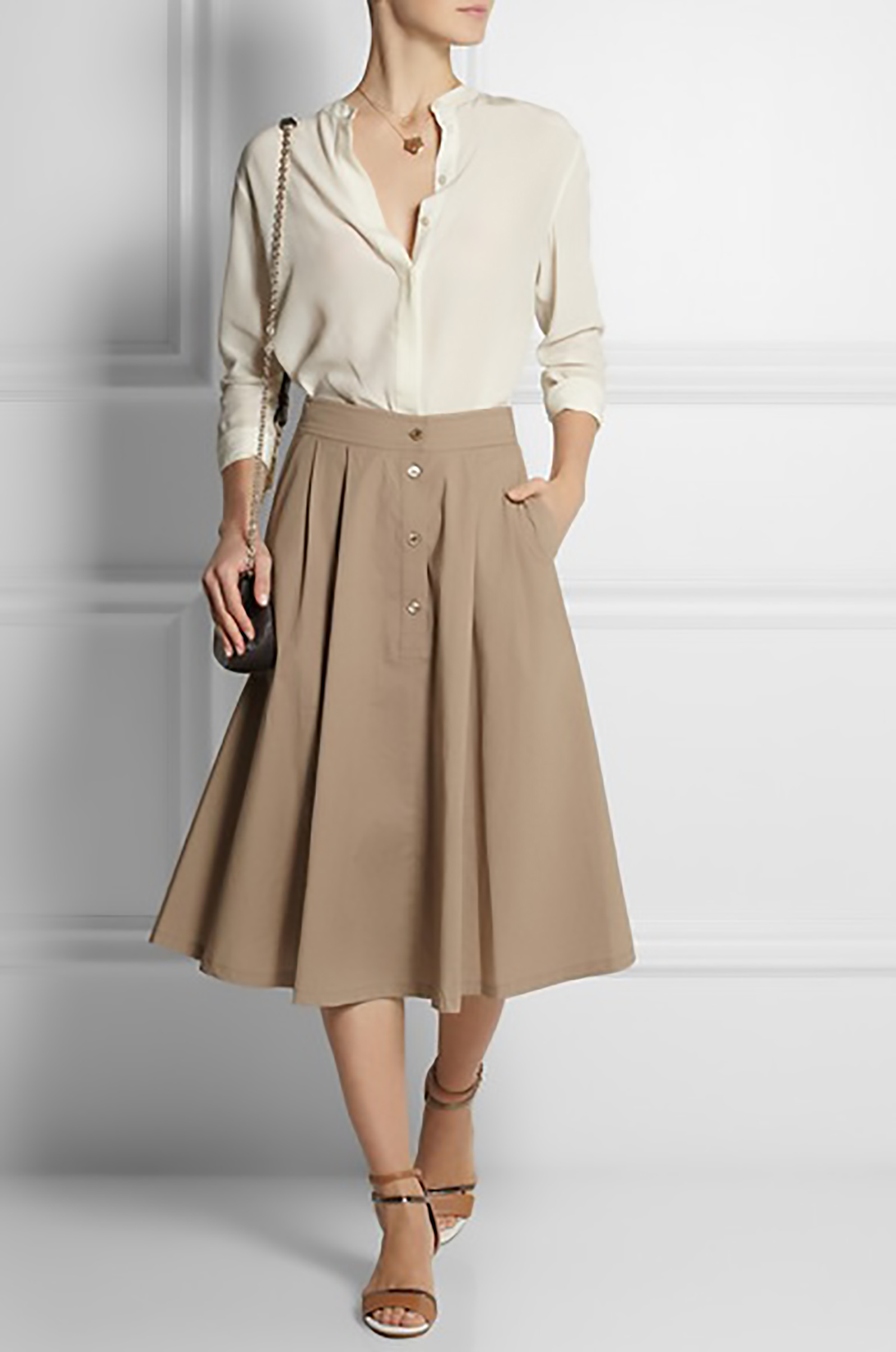 Le Meilleur The Work Look — Midi Skirts At Work Ce Mois Ci