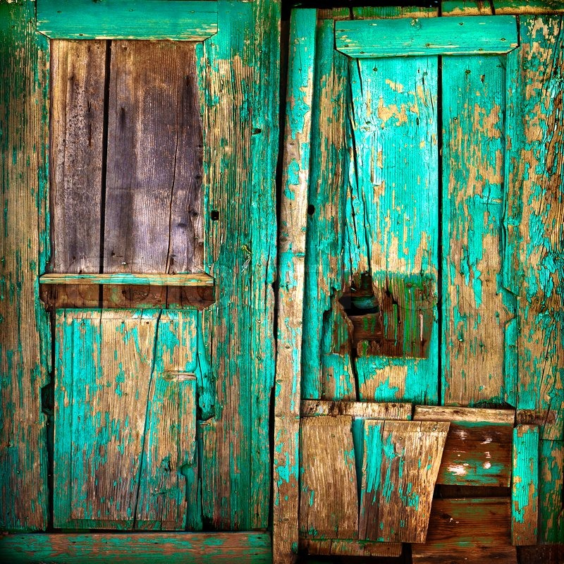 Le Meilleur Old Wooden Door Old Painted Wooden Stock Image Ce Mois Ci