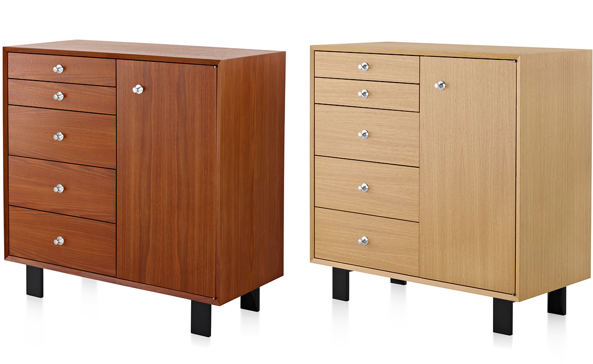 Le Meilleur Nelson Basic Cabinet 5 Drawers With Door Hivemodern Com Ce Mois Ci