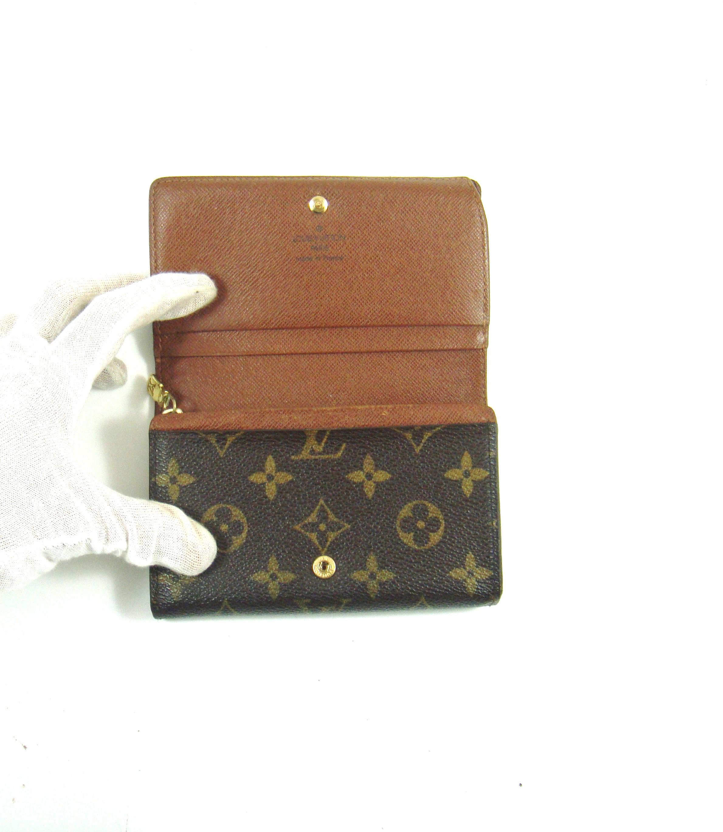 Le Meilleur Louis Vuitton Porte Monnaie Tresor Monogram Canvas Leather Ce Mois Ci