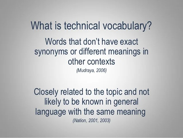 Le Meilleur Ntlt 2012 How Technical Vocabulary Is Used In Vocational Ce Mois Ci