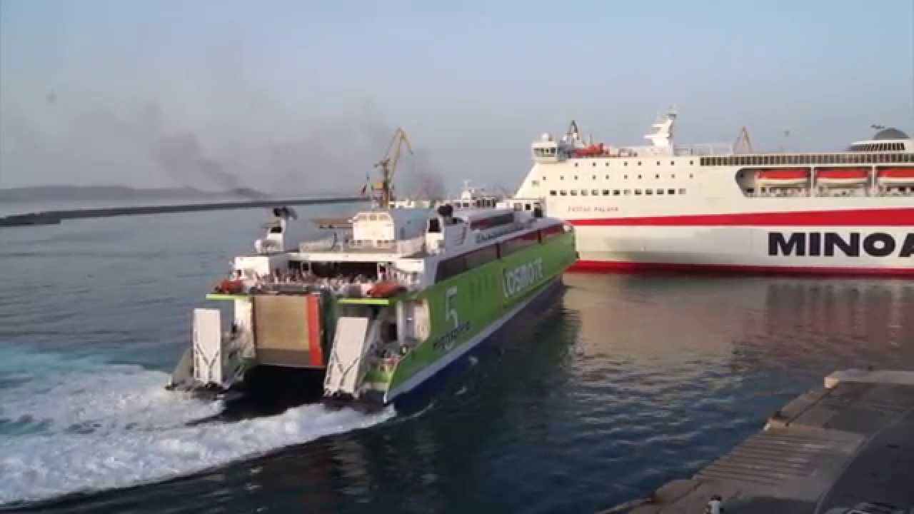 Le Meilleur Highspeed 5 Arrival And Maneuver At Heraklion Port Youtube Ce Mois Ci