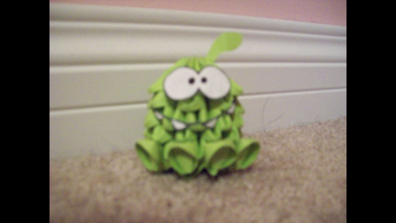 Le Meilleur How To 3D Origami Om Nom Cut The Rope Youtube Ce Mois Ci