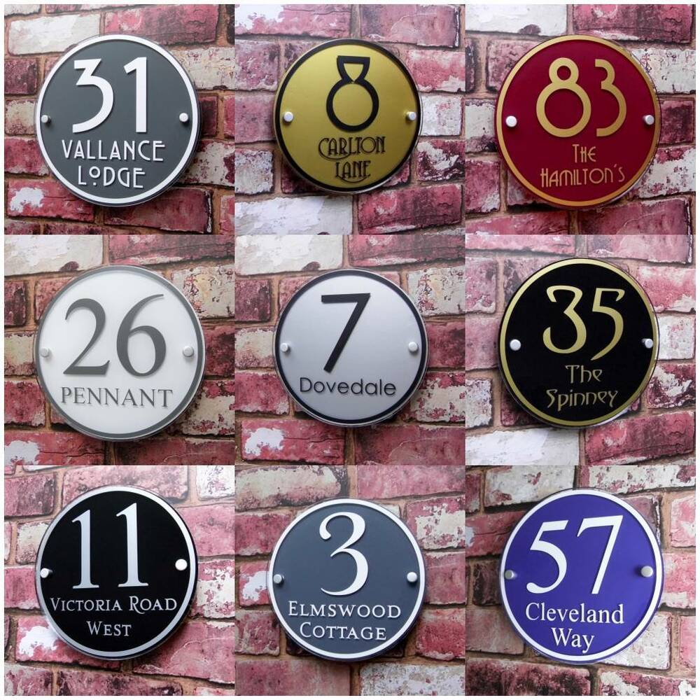 Le Meilleur Personalised House Sign Door Number Street Address Plaque Ce Mois Ci
