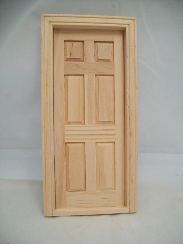 Le Meilleur Door 6 Panel Interior Dollhouse Miniature Wooden 6007 Ce Mois Ci