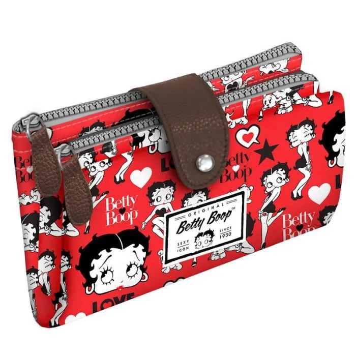 Le Meilleur Betty Boop Porte Monnaie Double Zip Betty Boop In Red Ce Mois Ci