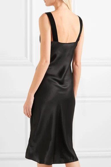 Le Meilleur Cami Nyc The Miki Velvet Trimmed Silk Charmeuse Dress Ce Mois Ci