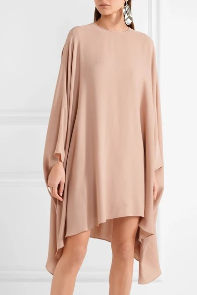 Le Meilleur Valentino Stretch Silk Georgette Mini Dress Net A Ce Mois Ci