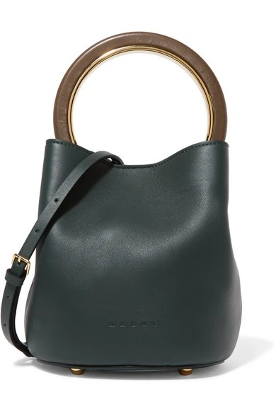 Le Meilleur Marni Pannier Leather Mini Bucket Bag Net A Porter Com Ce Mois Ci
