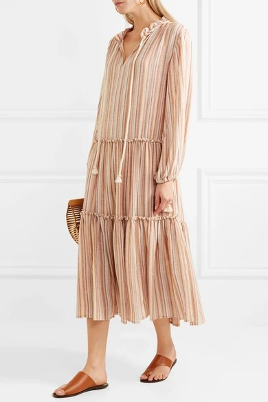 Le Meilleur See By Chloé Rope Trimmed Tiered Striped Gauze Dress Ce Mois Ci Original 1024 x 768