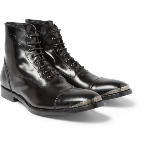 Le Meilleur Alexander Mcqueen Leather Boots And Mcqueen On Pinterest Ce Mois Ci
