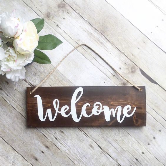 Le Meilleur Welcome Sign Front Door Sign Wreath Sign Outdoor Ce Mois Ci