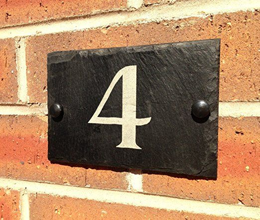 Le Meilleur 1000 Ideas About Slate House Numbers On Pinterest House Ce Mois Ci