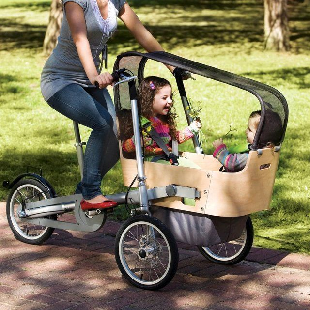 Le Meilleur Taga Wooden Double Seat Bike Stroller Buses Awesome And Ce Mois Ci