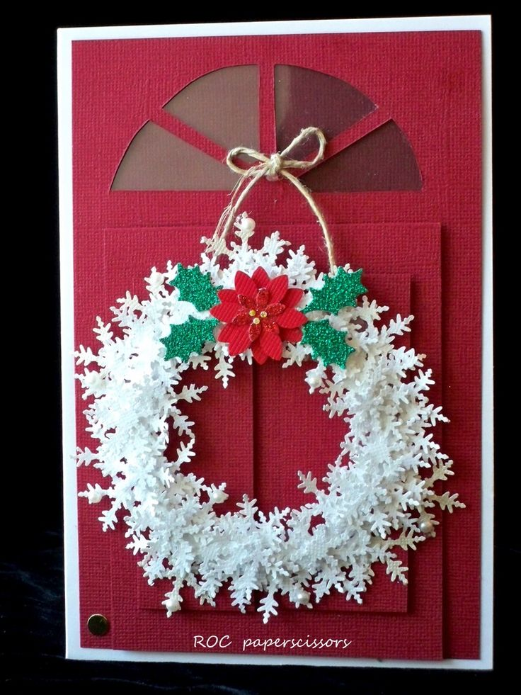 Le Meilleur Christmas Roc Paper Scissors Snowflake Wreath On A Ce Mois Ci