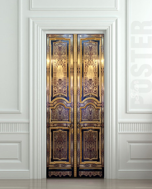 Le Meilleur Door Sticker Old Baroque House Enter Doors Mural Decole By Ce Mois Ci
