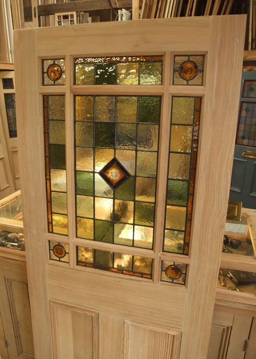 Le Meilleur An Interior Door Design With Simple Pattern Stained Glass Ce Mois Ci