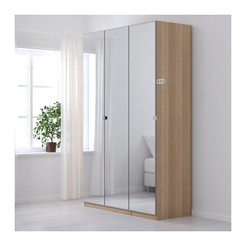 Le Meilleur Pax Wardrobe White Stained Oak Effect Vikedal Mirror Ce Mois Ci