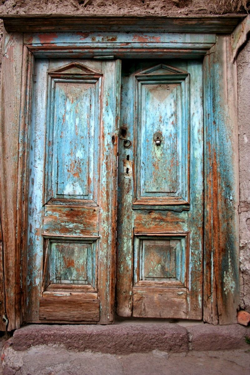 Le Meilleur 1393 Old Wood Blue Doors Vinyl Backdrops Backdrops And Ce Mois Ci
