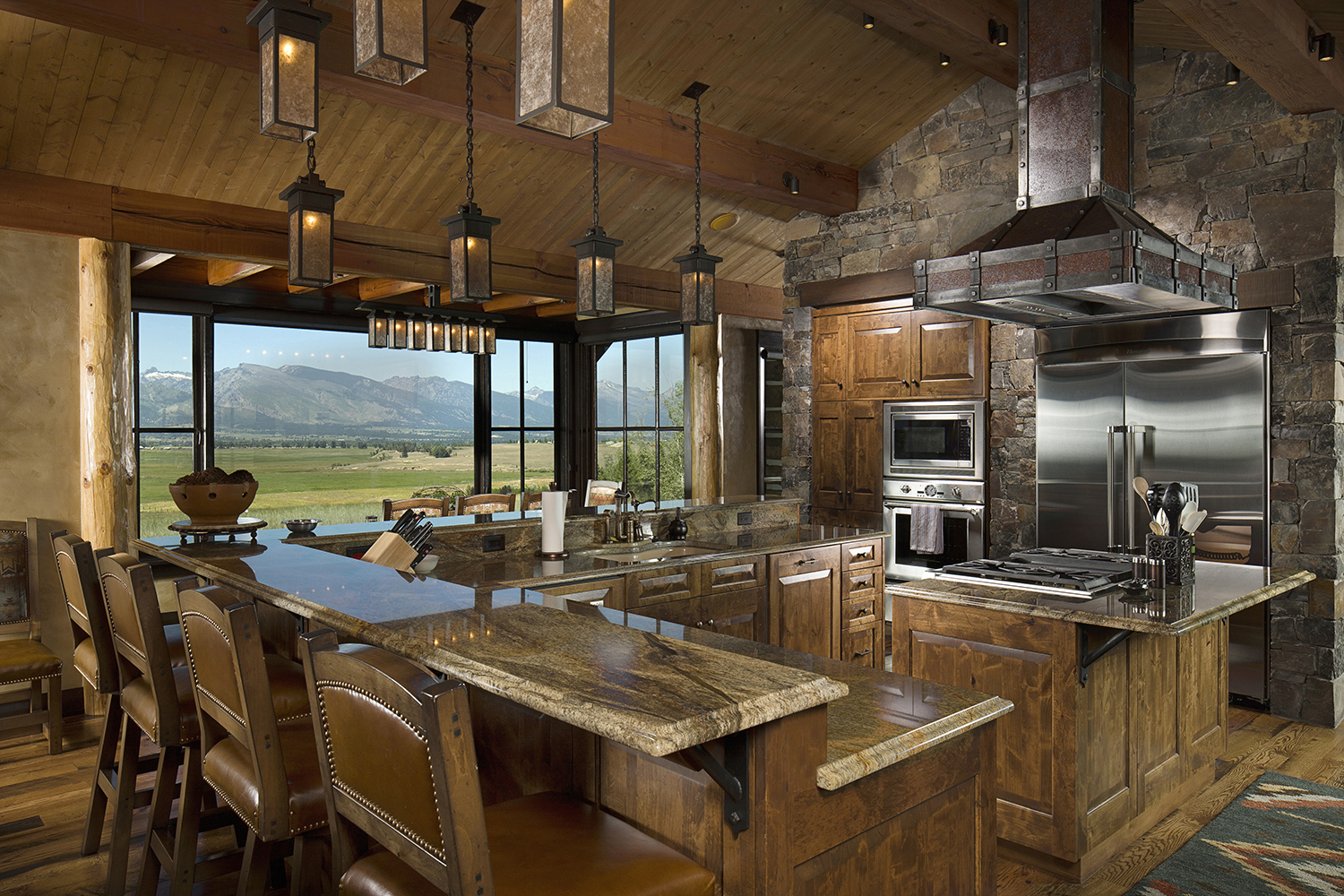 Rustic Log Home Kitchen Designs