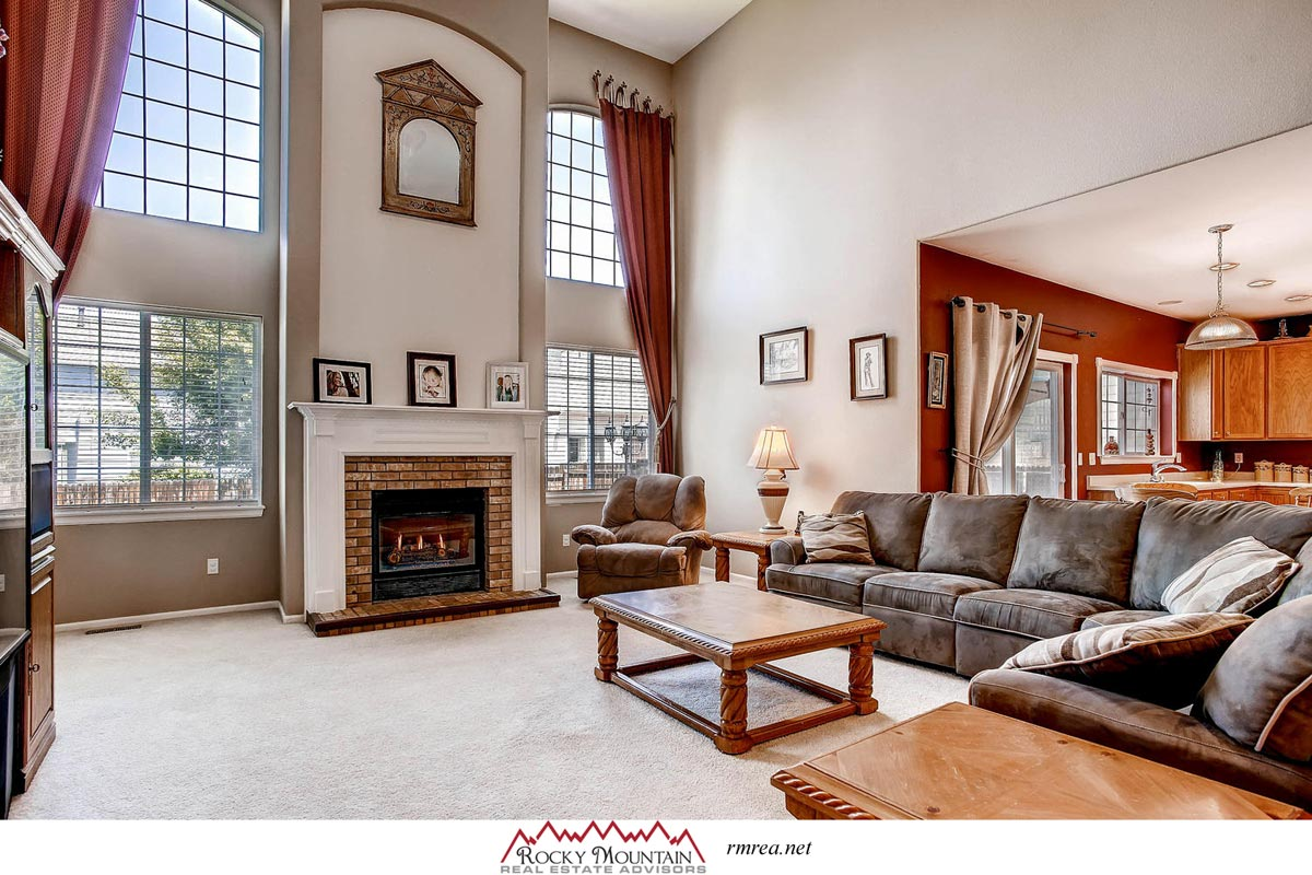 home for sale aurora two story fireplace family room