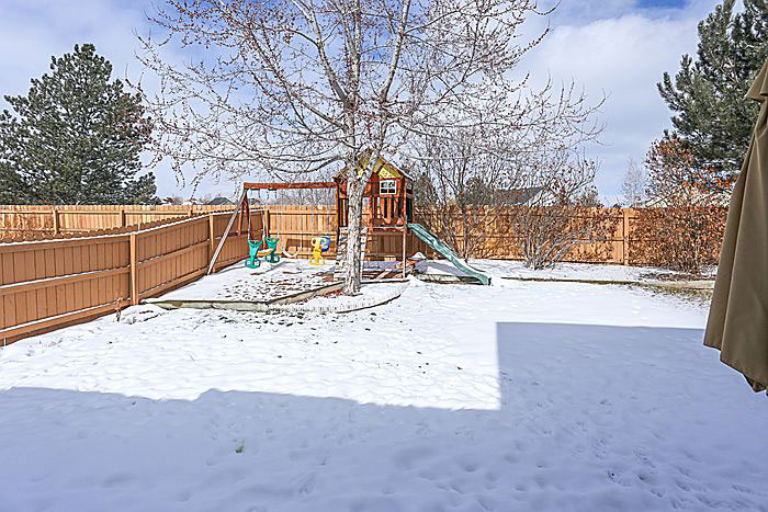 Large Backyard with no neighbors behind in this Clark Farms Home for Sale