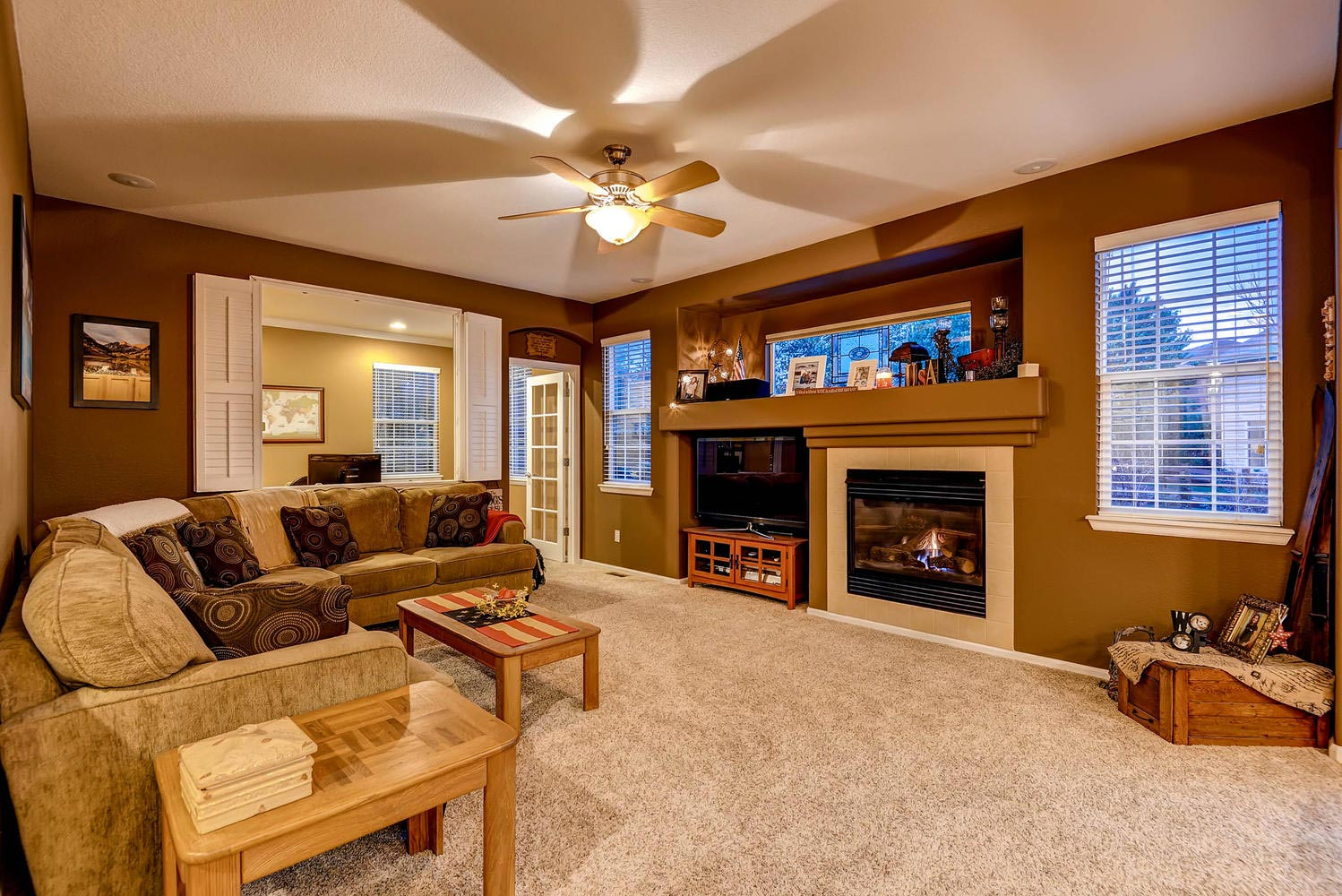 Family Room Stonegate Home for sale parker colorado