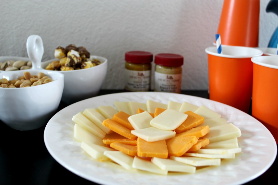 The perfect cheese platter for your Super Bowl Party.