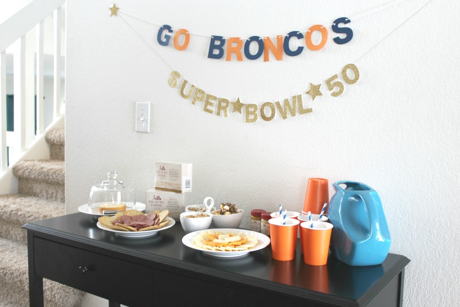 Use your teams colors to decorate for your Super Bowl Party