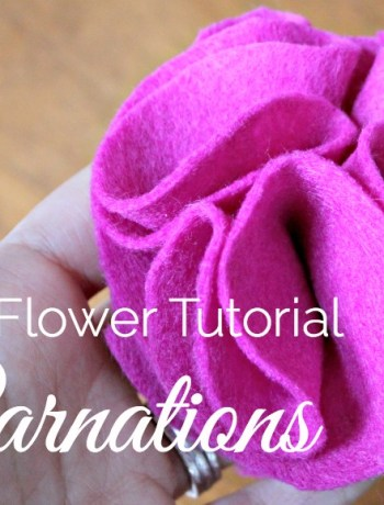 Felt Carnation tutorial