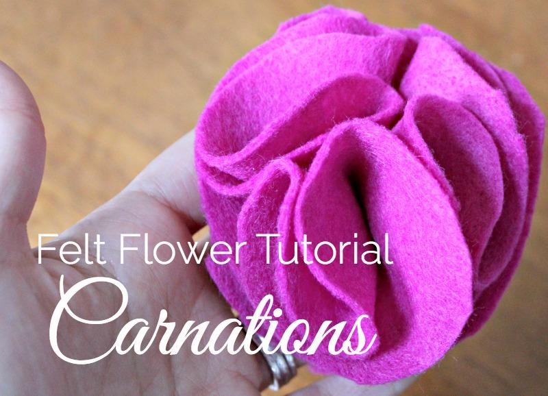 Felt Carnation tutorial