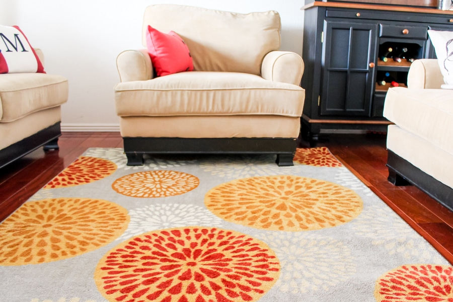 Living room makeover: Area rugs from Mohawk Homes