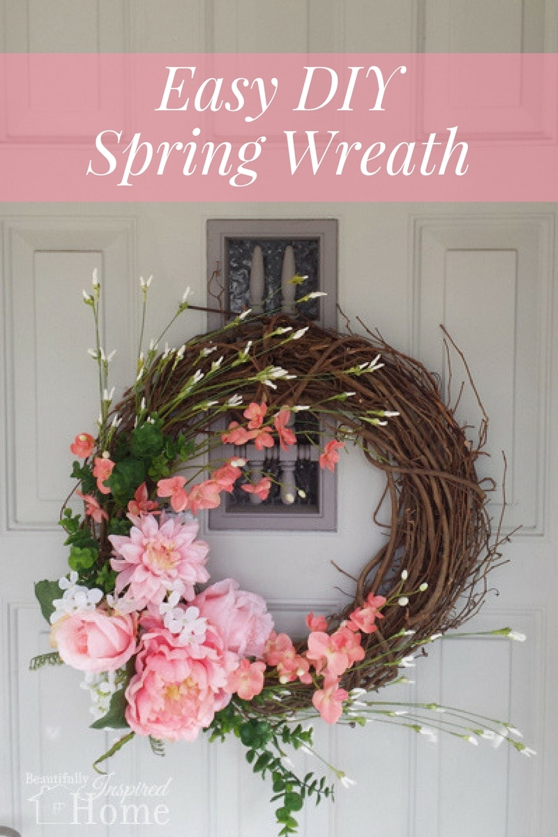 iu0027m a perpetual crafter and love sharing the tips and tricks iu0027ve learned today we are tackling an easy spring wreath for your front door or mantel