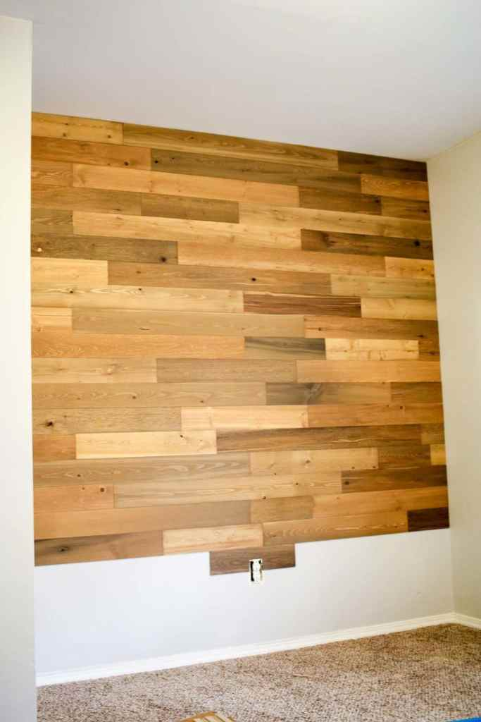Installing a reclaimed wood wall