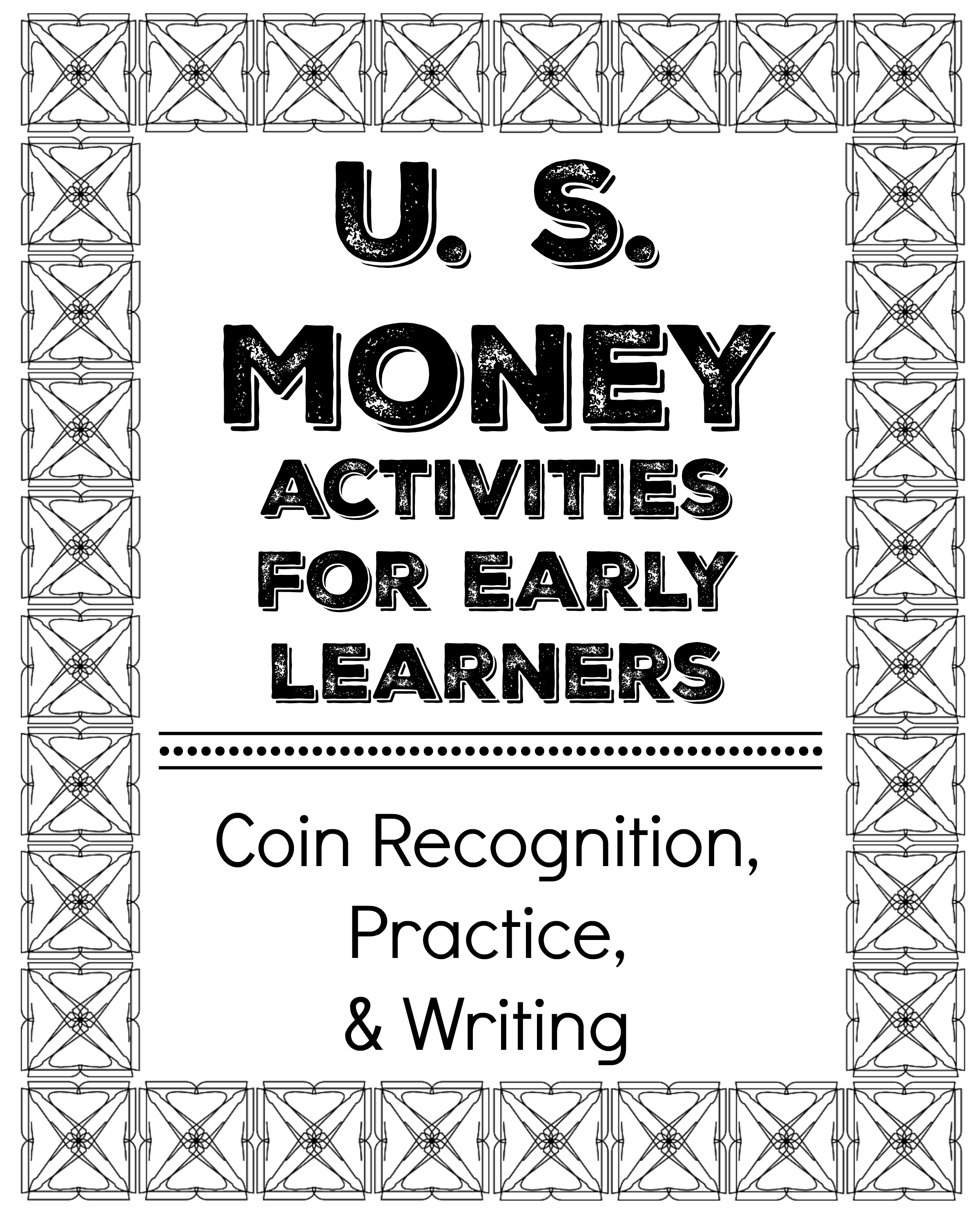 U S Money Activities For Early Learners