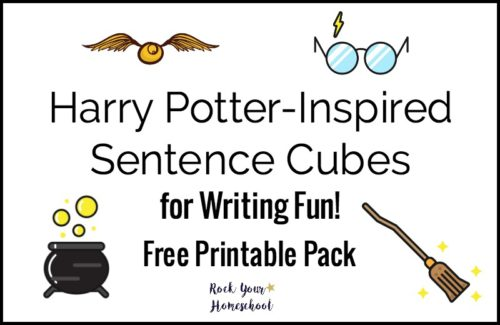 Free Harry Potter-Inspired Sentence Cubes for Writing Fun