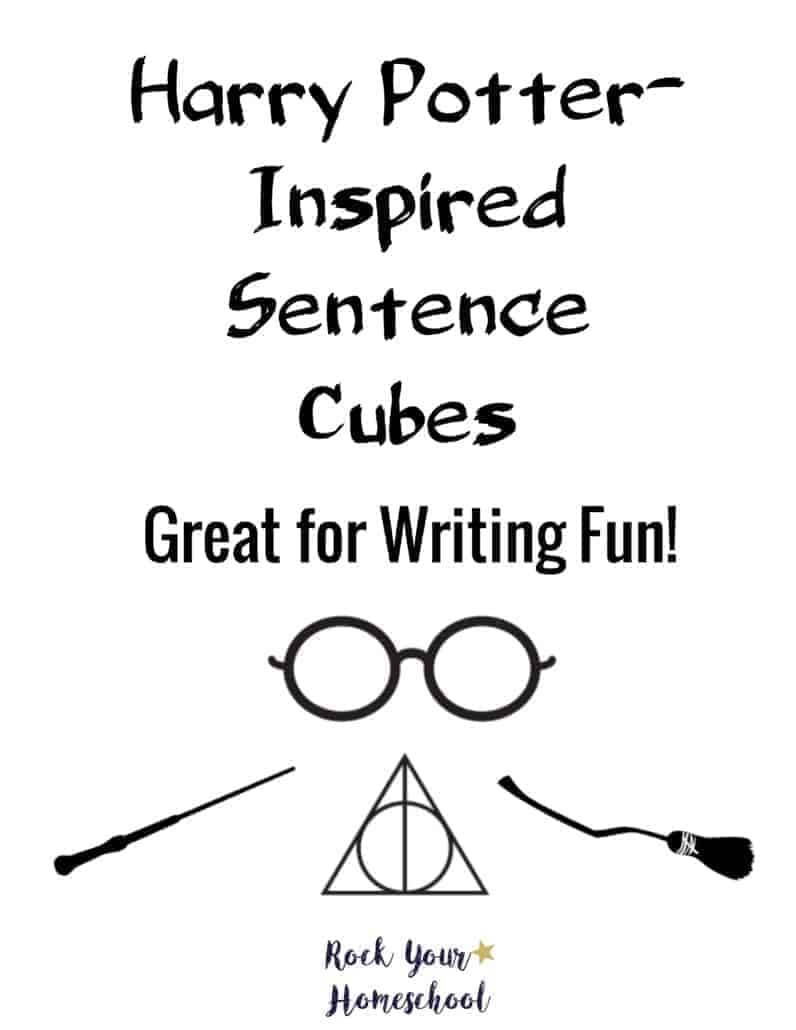 Harry Potter-Inspired Sentence Cubes for Writing Fun