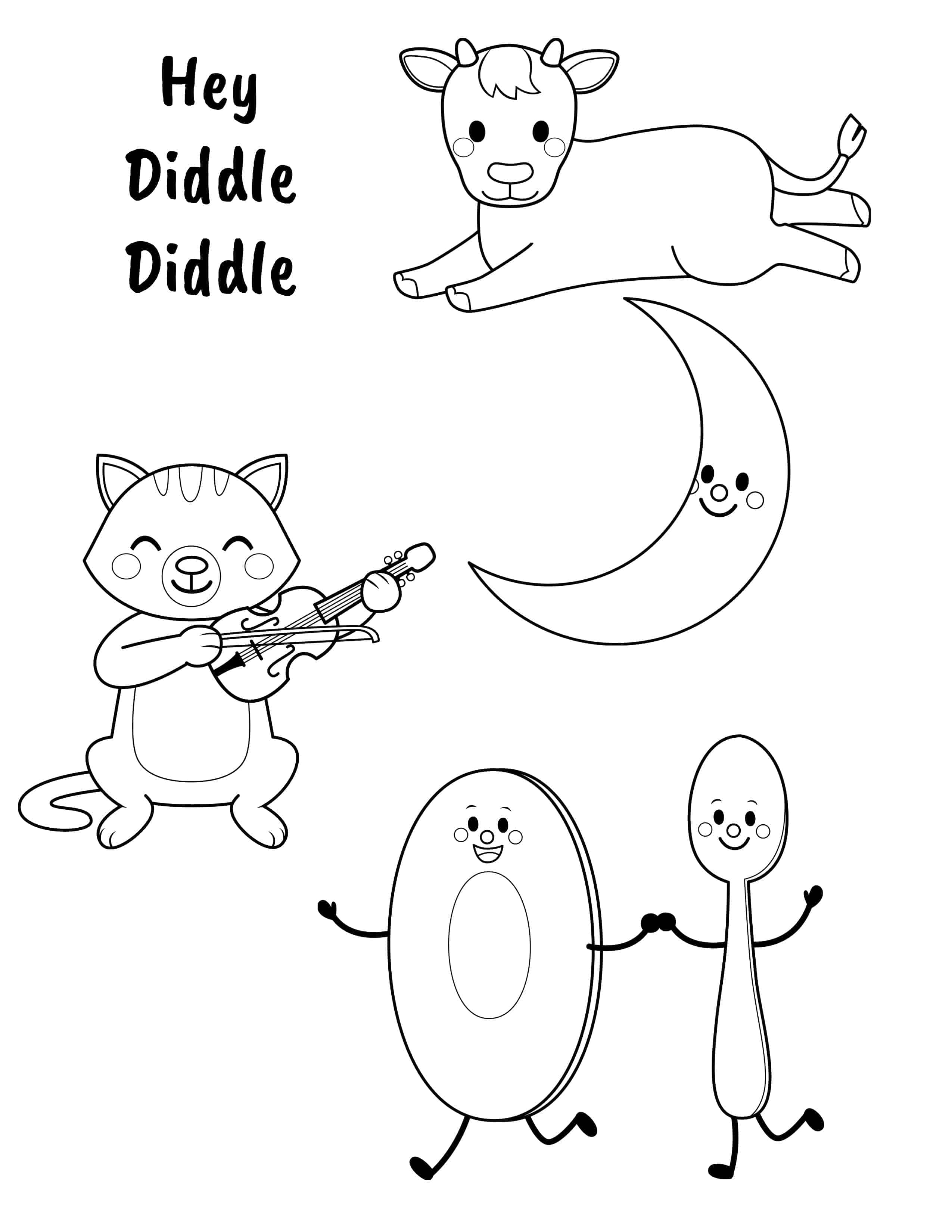 Hey Diddle Coloring Page Sketch Coloring Page