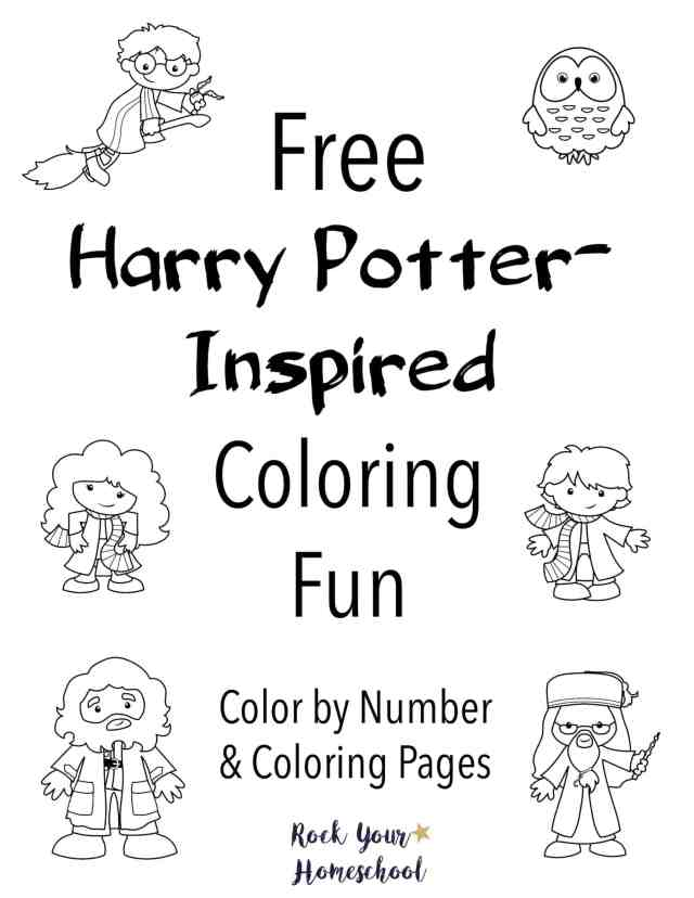 Free Harry Potter-Inspired Coloring Fun - Rock Your Homeschool