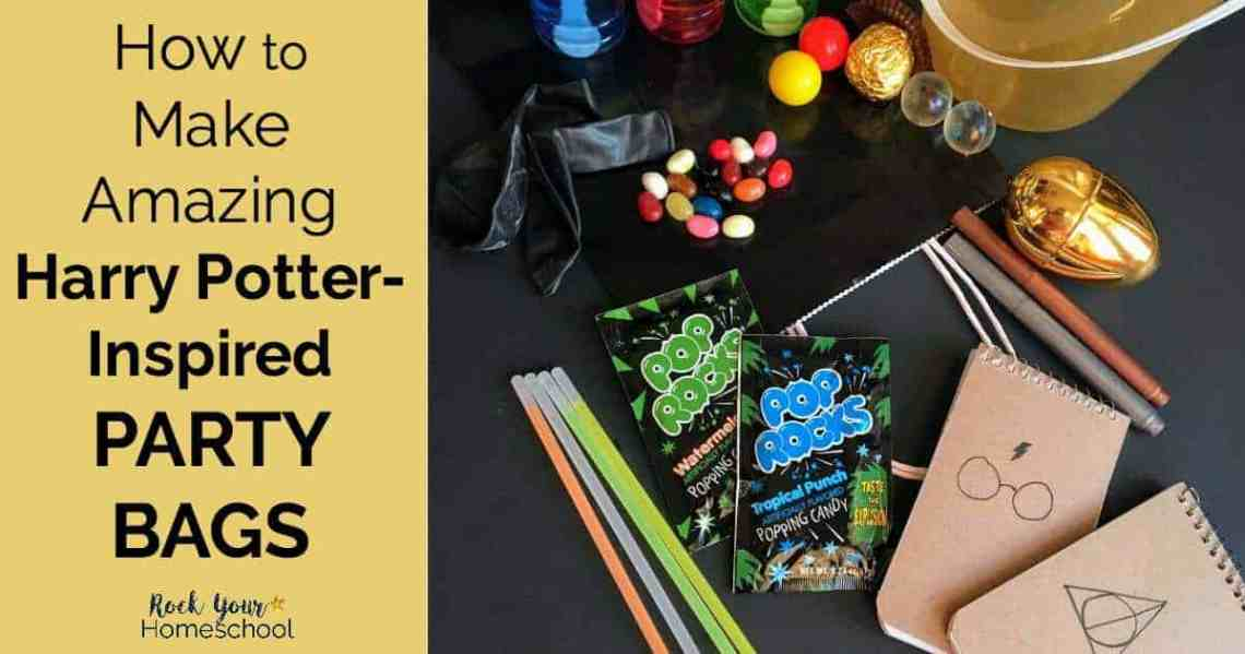 Discover How You Can Make Amazing Harry Potter Inspired Party Bags For Birthdays Classroom