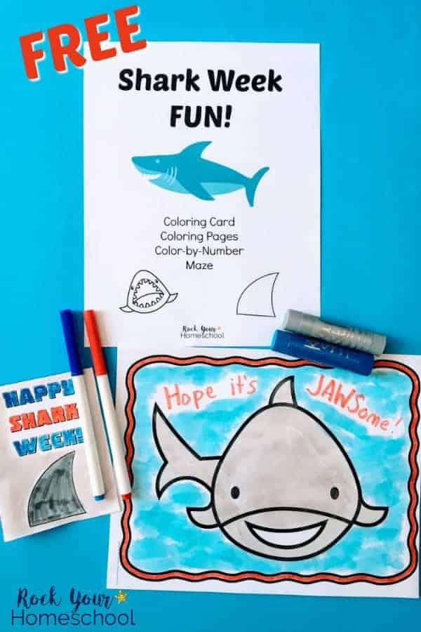 Easy Ways to Make Shark Week Fun with this Printable Pack - Rock ...