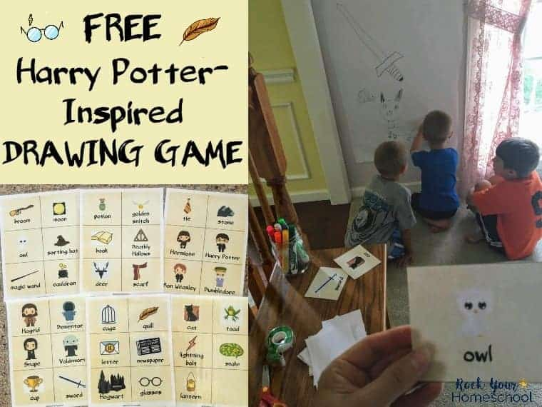 Have Magical Fun With This Free Harry Potter Inspired Drawing Game Printable Cards