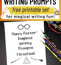 Free Printable Pack of Harry Potter-Inspired Writing Prompts - Rock Your  Homeschool [ 1500 x 1000 Pixel ]