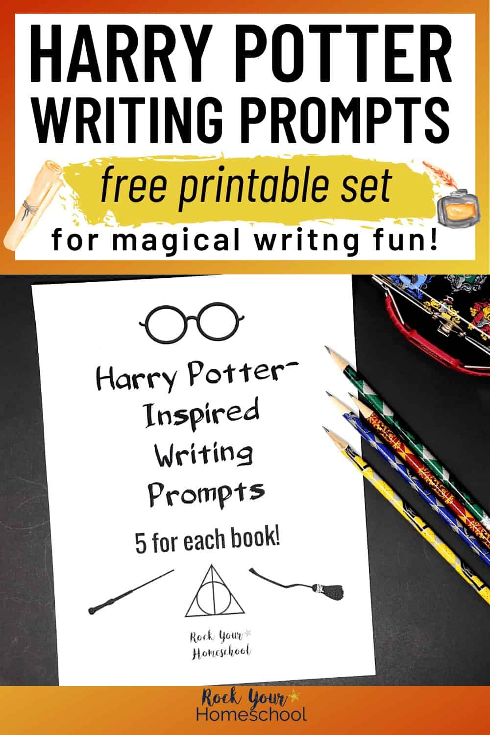 medium resolution of Free Printable Pack of Harry Potter-Inspired Writing Prompts - Rock Your  Homeschool