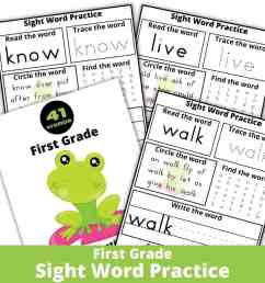 3 Fantastic Ways to Enjoy These Sight Word Worksheets - Rock Your Homeschool [ 1080 x 1080 Pixel ]