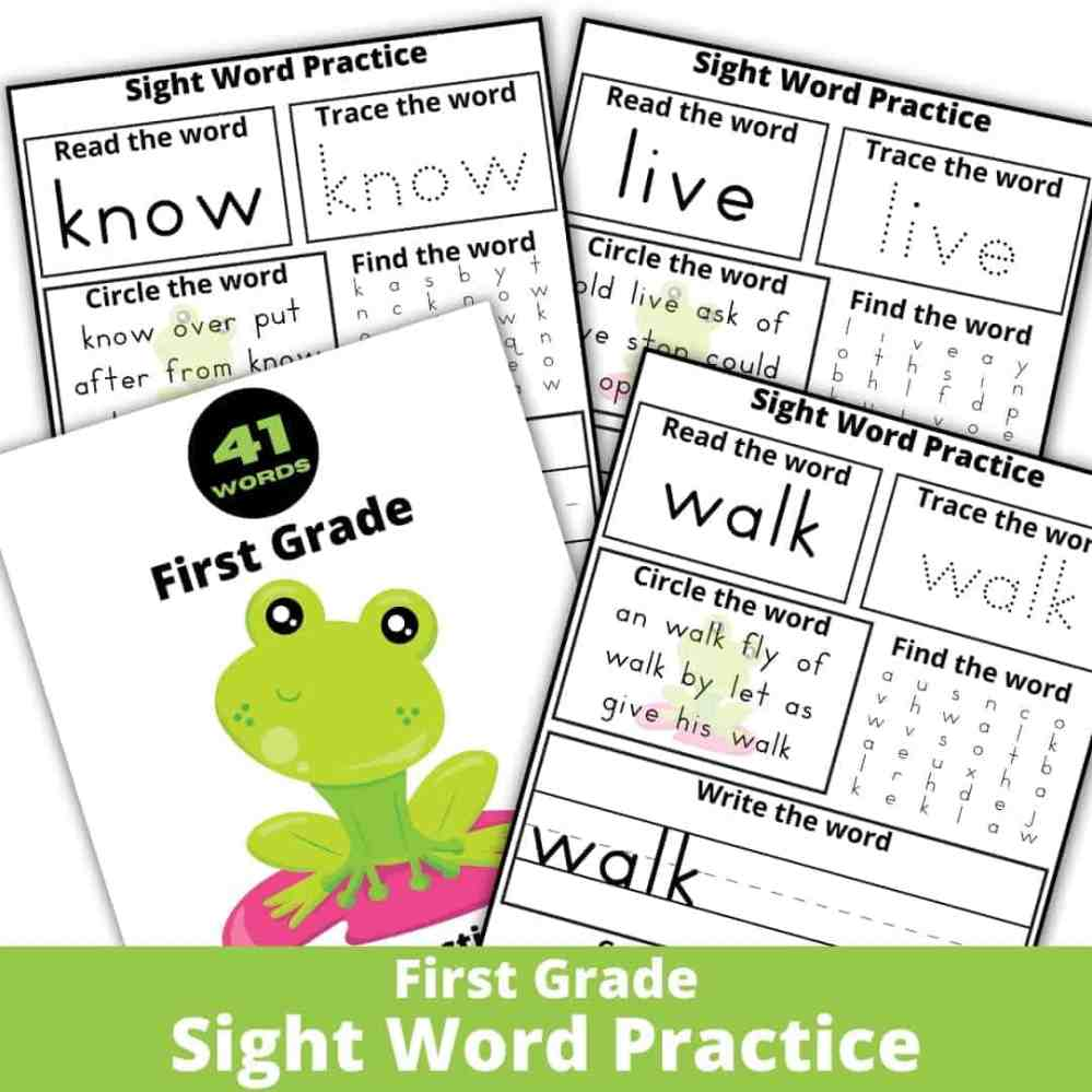 medium resolution of 3 Fantastic Ways to Enjoy These Sight Word Worksheets - Rock Your Homeschool